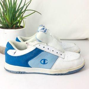 Vintage Champion 75251 Blue &White Leather Sneaker